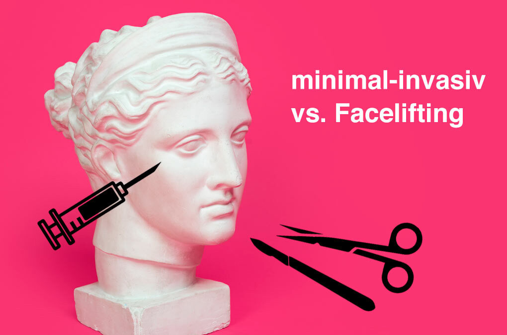 Minimal-invasiv vs. Facelifting